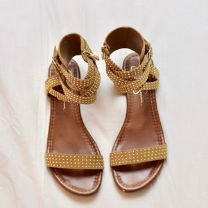 Jessica Simpson Shoes - Jessica Simpson Brown Studded Gladiator Sandals7.5